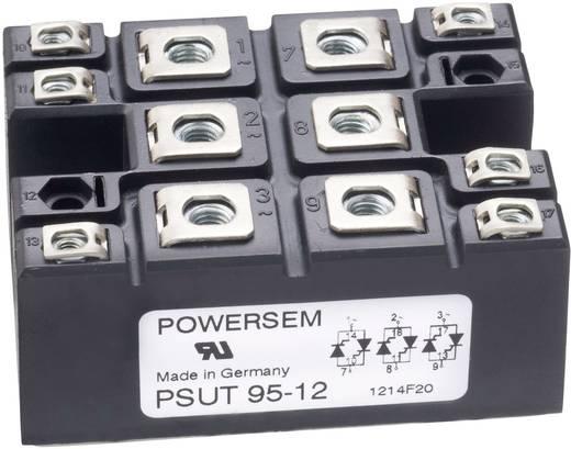 3 fázisú teljesítmény egyenirányító, névleges áram: 140 A , U(RRM) 1800 V, POWERSEM PSD 95-18