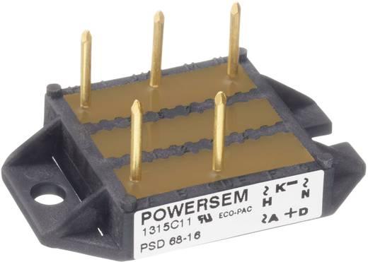 3 fázisú teljesítmény egyenirányító, névleges áram: 68 A , U(RRM) 1600 V, POWERSEM PSD 68-16