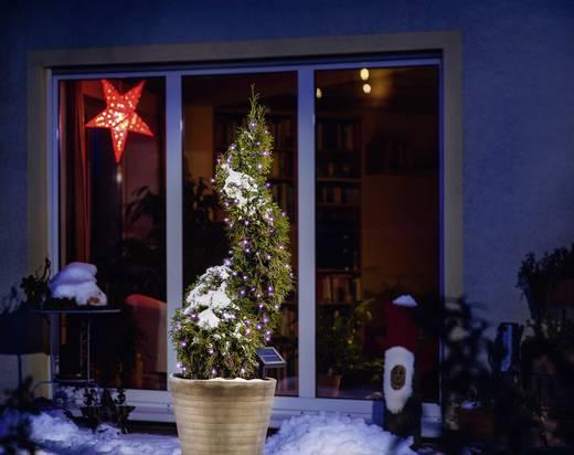 Kültéri napelemes karácsonyfa fényfüzér, 100 rózsaszín LED, 1200 cm, Esotec 102111