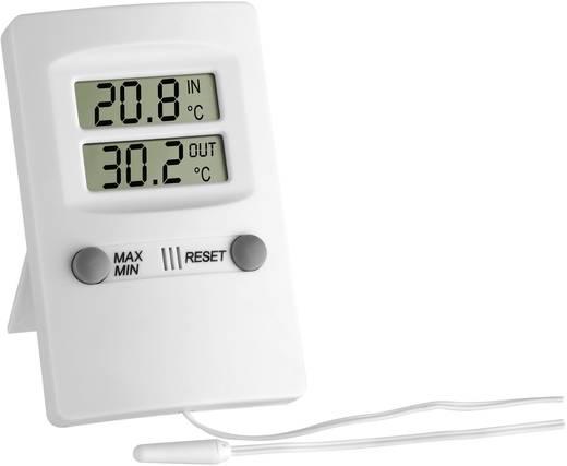 Digitális bel- és kültéri hőmérő, fehér, TFA