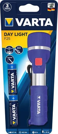 LED Kézilámpa Varta Day Light 2 AA Elemekről üzemeltetett 32 lm 139 g Ezüst-kék