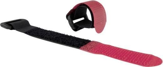 Tépőzár Kötegeléshez Bolyhos és horgos fél (H x Sz) 480 mm x 25 mm Fekete Piros Velcro E1010000533002 10 db