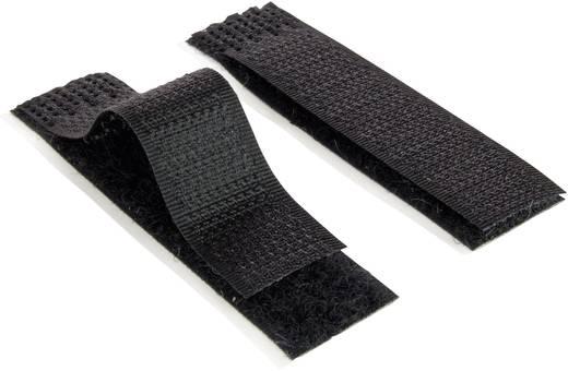 Tépőzár Felragasztáshoz Bolyhos és horgos fél (H x Sz) 70 mm x 16 mm Fekete Velcro E1400003233002 1 db