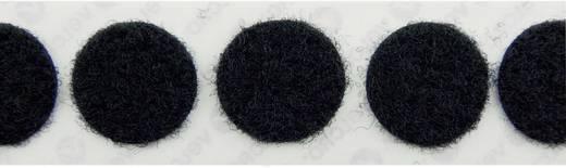 Tépőzár pontok Felragasztáshoz Bolyhos fél (Ø) 22 mm Fekete Velcro E20102233011425 1000 db