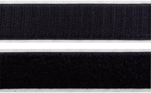 Tépőzár Felragasztáshoz Bolyhos és horgos fél (H x Sz) 10000 mm x 20 mm Fekete Velcro E40202033011410N 10 m