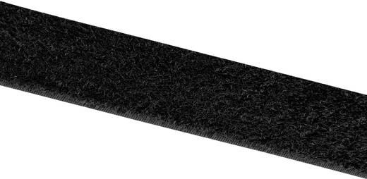 Tépőzár Felragasztáshoz Bolyhos fél (H x Sz) 25000 mm x 100 mm Fekete Velcro E00110033011425 25 m