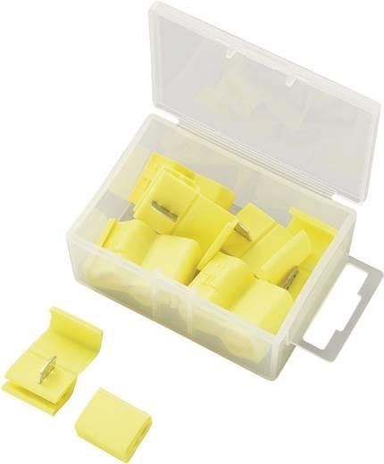 Kábel gyorscsatlakozó készlet Tru Components Keresztmetszet 4 - 6 mm² Sárga 10 db