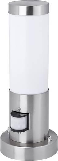 Kültéri lámpatest mozgásérzékelővel, E27, Ø 80 x 300 mm, rozsdamentes acél, ezüst, Zigar 7870C8B
