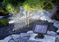 Napelemes, falra szerelhető/leszúrható LED-es kerti spotlámpa készlet, 3 db, max. 8 óra, fekete, Esotec Solarspot Trio 1 Esotec