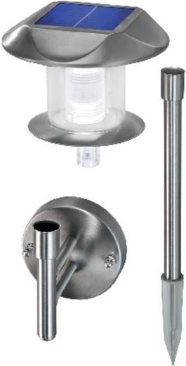 LED-es fali/leszúrható napelemes kerti lámpa, rozsdamentes acél, Esotec Sunny 102094