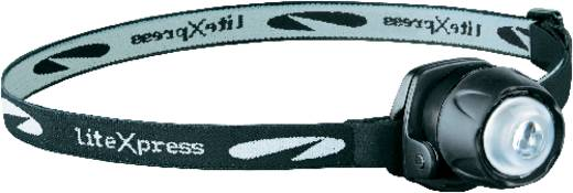 LED-es fejlámpa, Nichia LED, 15 óra, fekete, LiteXpress Liberty 105 LX209101