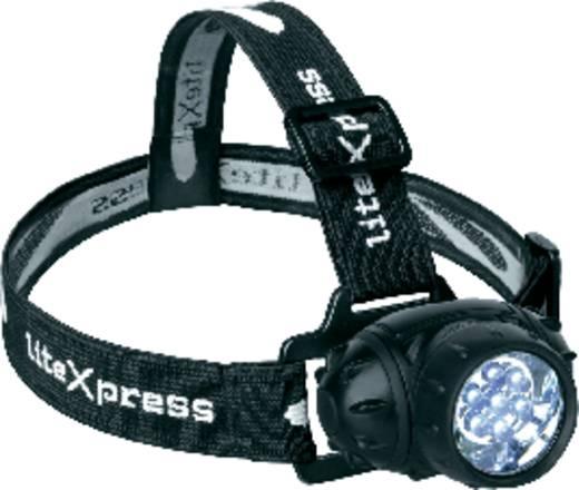 LED-es fejlámpa, Nichia LED, 46 óra, fekete, LiteXpress Liberty 102 LX202701