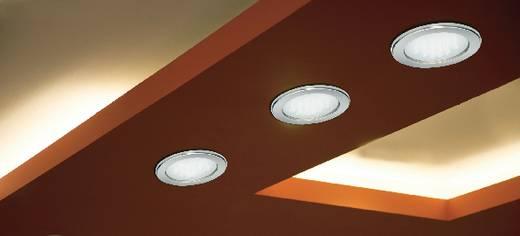Beltéri beépíthető lámpa, nemesacél hatású külső, energiatakarékos fényforrás, GX53, Megaman Planex MM76352