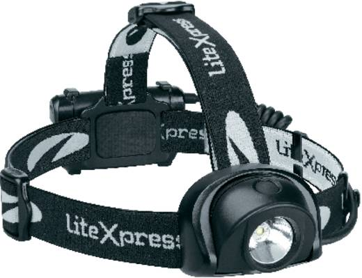 LED-es fejlámpa, Luxeon LED, 13 óra, fekete, LiteXpress Liberty 113-2 LX205001