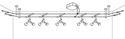 Szerelési anyag készlet sínrendszerhez, króm, Paulmann 17824