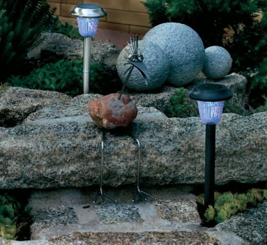 Napelemes, leszúrható LED-es kertilámpa, max. 8 óra, fekete