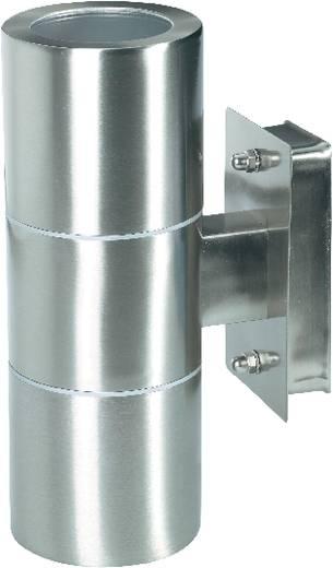 Kültéri fali lámpatest (le/fel), GU10, max. 2x35 W, 230 V, rozsdamentes acél