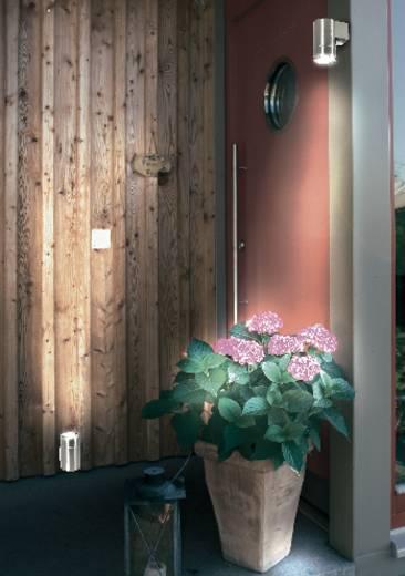 Kültéri fali lámpatest (le), GU10, max. 35 W, 230 V, rozsdamentes acél