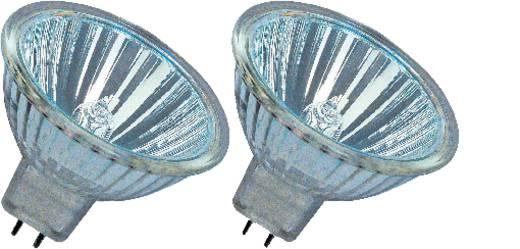 Nagyfeszültségű halogén izzó OSRAM 12 V GU5.3 20 W, melegfehér, EEK: B, dimmelhető 2 db
