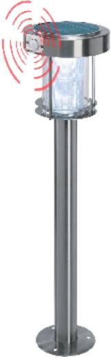 Napelemes LED-es kerti álló lámpa mozgásérzékelővel, max. 8 óra, rozsdamentes acél, Esotec Ancona 102400