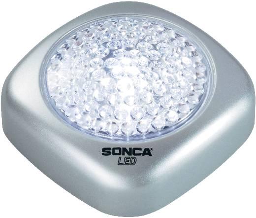 Hordozható LED-es kis lámpa, 3 részes készlet, ezüst