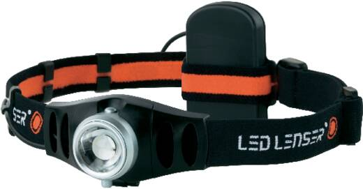 LED-es fejlámpa, elemes, 1 LED 25 lm 75 m 20 óra 116 g, Ledlenser H5 78693 6103