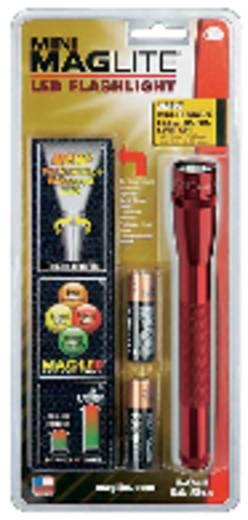 LED-es kézilámpa, 170 mm, piros, Mag-Lite LED Mini 2AA SP2203H