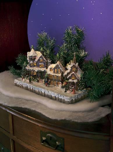 Beltéri asztali dekor lámpa, havas táj, Konstsmide 3317-000