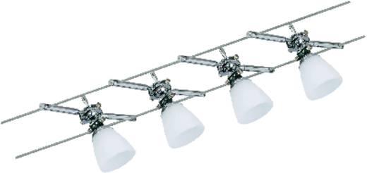 Komplett lámparendszer, halogén fényforrás, króm, opál, G4, Paulmann Wire System Kuba 974.71