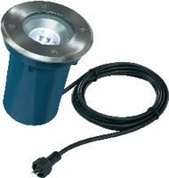 Besüllyeszthető LED-es lámpatest, 45°, 1 W (hidegfehér), 12V, IP67, ezüst/kék, Esotec 105236 Esotec