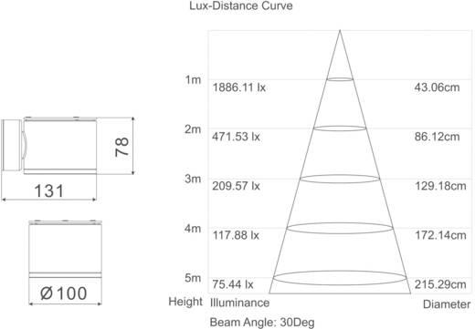 Kültéri, LED-es fali lámpatest, 8,1 W, 230 V, szürke, Esotec 201100