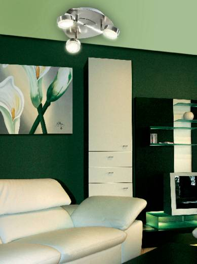 Mennyezeti lámpa 3 x 11 W, GX53, nikkelezett