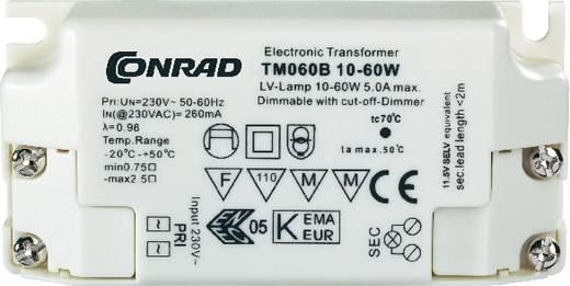 Elektronikus mini transzformátor, 60 W, TM60B