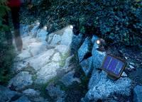 Napelemes, fali leszúrható LED-es kerti spotlámpa készlet mozgásérzéklővel, 3 db, Esotec Trio 102144 Esotec