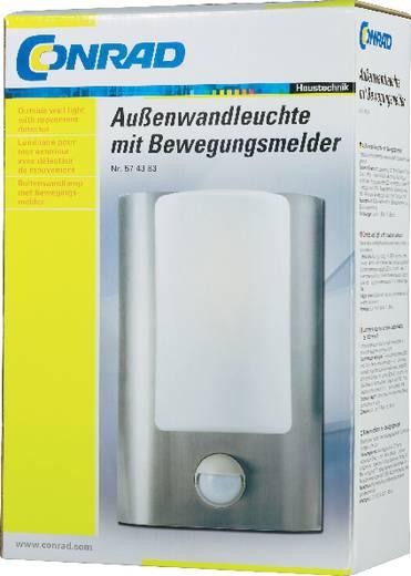 Kültéri fali lámpatest mozgásérzékelővel, E27, max. 60 W, 230 V, rozsdamentes acél