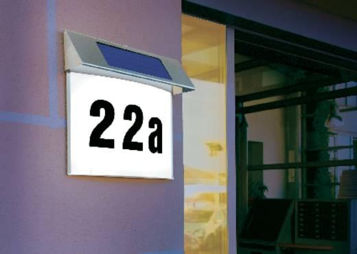 Napelemes LED-es házszámtábla, max. 100 óra, rozsdamentes acél, Esotec Vision 102200