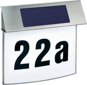 Napelemes LED-es házszámtábla, max. 100 óra, rozsdamentes acél, Esotec Vision 102200 Esotec