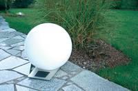 Napelemes kerti lámpa, kültéri LED-es dekor lámpa, gömb, fehér, RGB, 50 cm, Esotec Trendy 106046 Esotec
