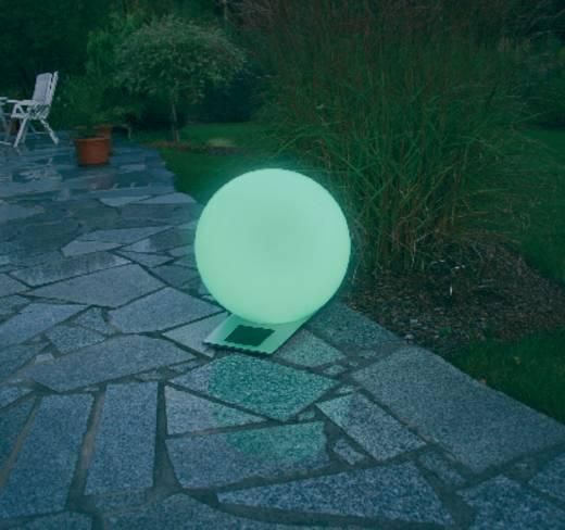 Napelemes LED-es világító gömb, 300 mm, max. 12 óra, rozsdamentes acél, Esotec Trendy 106042