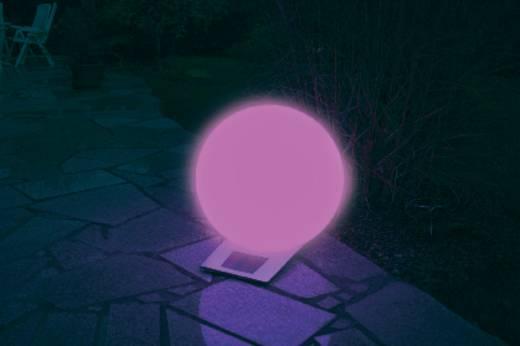 Napelemes kerti lámpa, kültéri LED-es dekor lámpa, gömb, fehér, RGB, 40 cm, Esotec Trendy 106044