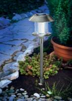 LED-es leszúrható napelemes kerti lámpa, rozsdamentes acél, Esotec Swing 102070 Esotec