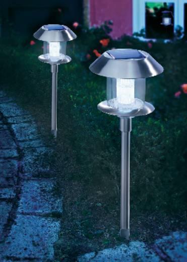 Napelemes, leszúrható LED-es kertilámpa, max. 12 óra, rozsdamentes acél, Esotec Swing 102070