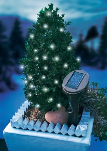 Napelemes kültéri LED-es fényfüzér, 24 LED, 5 m/7 m, fehér, Esotec 102154