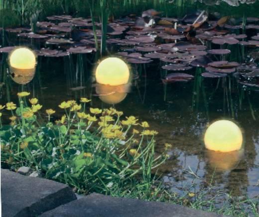 Napelemes kerti lámpa, kültéri LED-es dekor lámpa, úsztatható, gömb