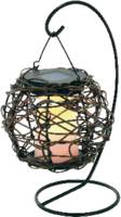 Napelemes LED-es kerti függőlámpa, max. 8 óra, fém, Esotec Korfu 102072 Esotec