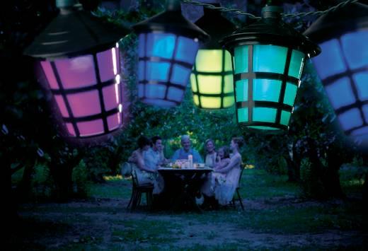 LED-es lampion fényfüzér, kerti dekor világítás Konstsmide 4162-500 LED