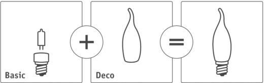 Üvegbúra gyertya forma, szatén, Paulmann 87005