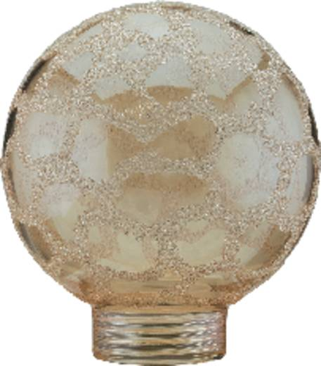 Üvegbúra mini gömb forma, arany/kroko-jégkristály, Paulmann 87558