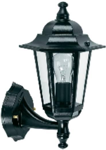 Kültéri fali lámpatest mozgásérzékelővel, E27, max. 60 W, 230 V, fekete, GEV LLA 1473, 001473A