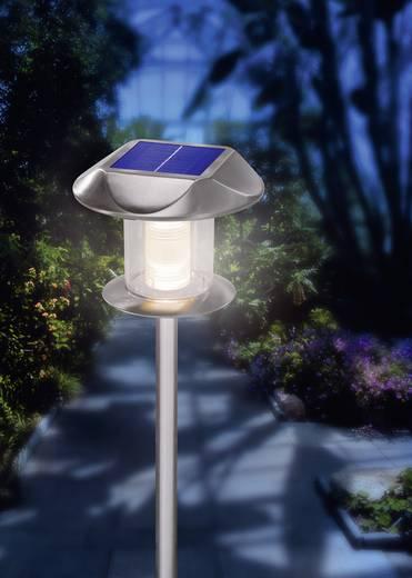 Napelemes, falra szerelhető/leszúrható LED-es kertilámpa, max. 12 óra, rozsdamentes acél, Esotec Sunnylight 102093